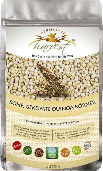 UHTCO Peruvian Harvest Rohe, gekeimte Quinoa Körner, 250g | Das Beste aus Peru für die Welt | BIO'